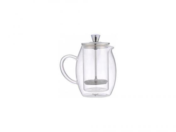 лучшая цена Френч-пресс Winner WR-5216 0.6 л металл/стекло серебристый прозрачный