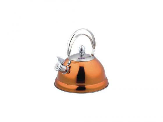 Чайник Bekker BK-S427 2.6 л нержавеющая сталь оранжевый чайник kitchenaid kten20sbob чёрный 1 9 л нержавеющая сталь