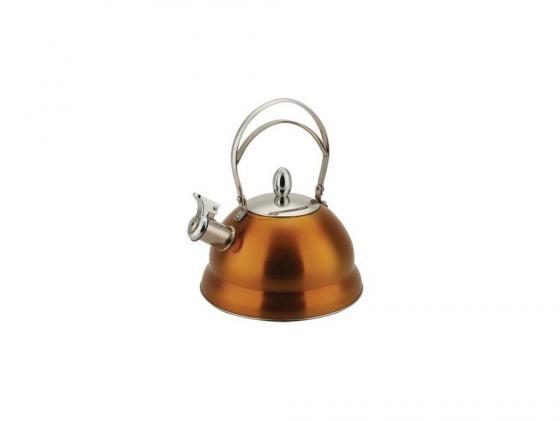 чайник металлический bekker deluxe bk s459 Чайник Bekker BK-S459 2.7 л нержавеющая сталь оранжевый