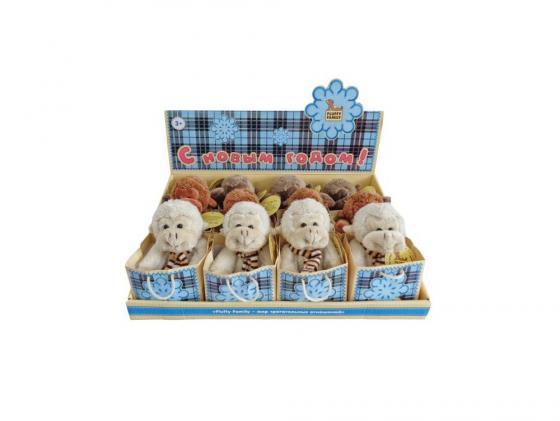 Мягкая игрушка обезьянка Fluffy Family 681154 12 см серый плюш цена