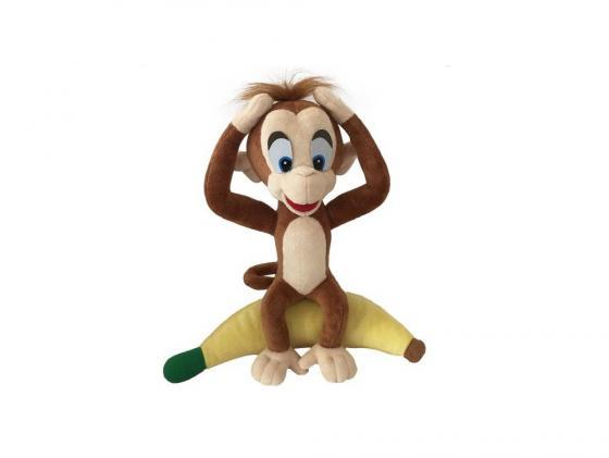 Мягкая игрушка обезьянка Fluffy Family Добытчик Арчи 30 см коричневый плюш интерактивная игрушка fluffy family бобер повторяшка от 3 лет 681012 коричневый