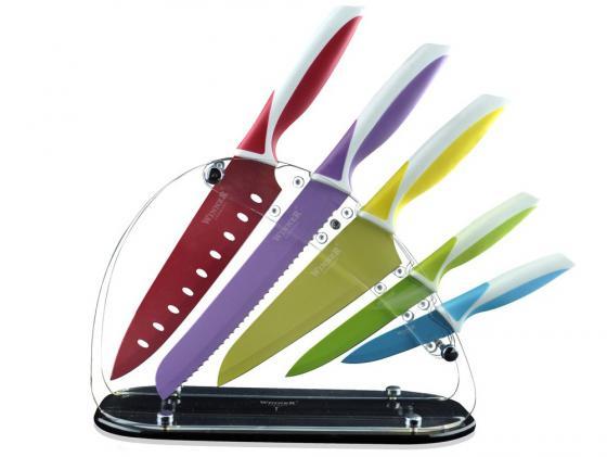 Набор ножей Winner WR-7328 6 предметов нержавеющая сталь набор ножей winner wr 7329 6 предметов нержавеющая сталь