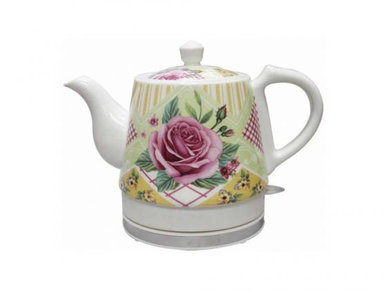 Чайник Zimber ZM-10989 1000 Вт 1.2 л керамика белый чайник электрический zimber 1 7 л 2200w салатовый