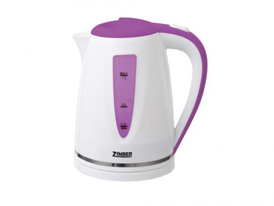 Чайник Zimber ZM-10851 2200 Вт 1.7 л пластик белый сиреневый утюг zimber zm 10711