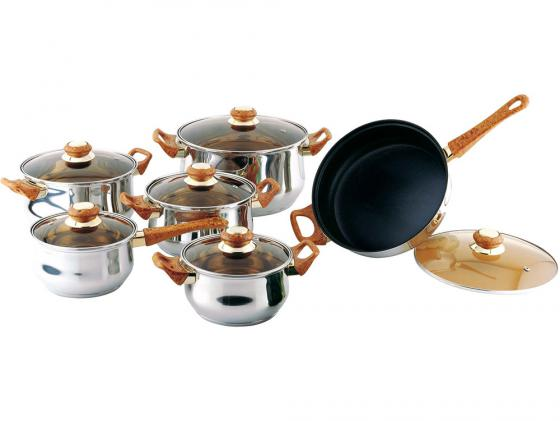 Набор посуды Bekker Classik BK-226 12 предметов набор посуды bekker deluxe из 13 ти предметов вк 2862