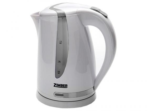 Чайник Zimber ZM-10831 2200 Вт 1.7 л пластик белый зелёный чайник zimber zm 10818 2000 зелёный 1 8 л металл стекло
