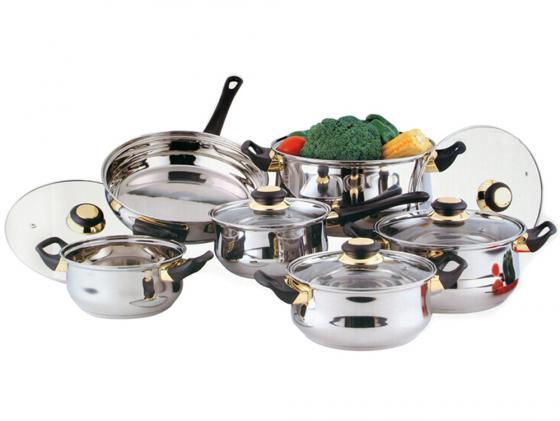 Набор посуды Bekker Classik BK-224 12 предметов набор посуды bekker deluxe из 13 ти предметов вк 2862