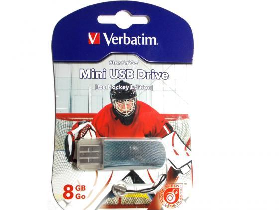 Флешка USB 8Gb Verbatim Mini Graffiti Edition Hockey 049878 USB2.0 2015 35 men s hockey jersey