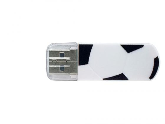 Флешка USB 8Gb Verbatim Mini Graffiti Edition Football 49880 USB2.0 бело-черный usb flash drive 8gb verbatim mini graffiti edition usb 2 0 green 98163