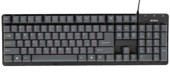 Клавиатура проводная Sven Standard 301 USB серый клавиатура sven standard 301 usb белая