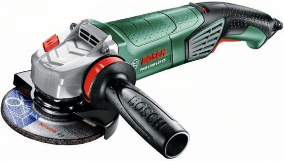 Угловая шлифмашина Bosch PWS 1300-125 CE 1300Вт 125мм шлифовальная машина bosch pws 2000 230 je 06033c6001