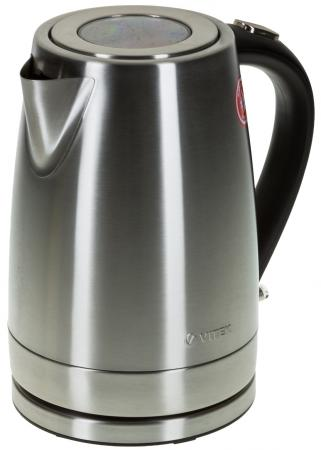 Чайник Vitek VT-7000 SR 2200 Вт 1.7 л металл серебристый чайник vitek vt 7008 tr 2200 вт чёрный 1 7 л пластик стекло