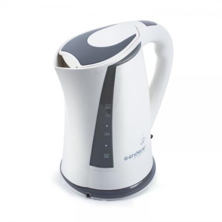 Чайник ENDEVER KR-314 2200 Вт 1.7 л пластик белый серый endever kr 306g