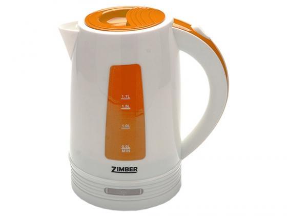 Чайник Zimber ZM-10848 2200 Вт 1.7 л пластик белый оранжевый