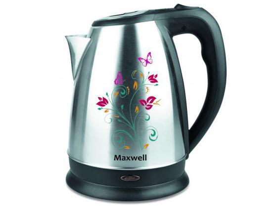 лучшая цена Чайник Maxwell MW-1074 ST 2200 Вт 1.7 л нержавеющая сталь серебристый чёрный