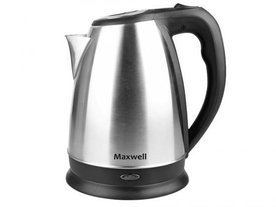 Чайник Maxwell MW-1045(ST) 2200 Вт 1.7 л металл серебристый шашлычницы maxwell шашлычница maxwell mw 1990 st