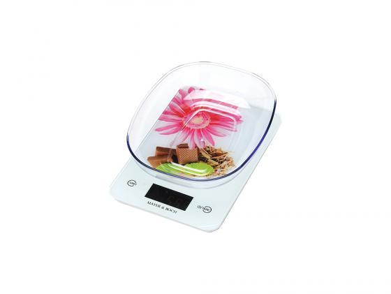 Весы кухонные Mayer&Boch МВ-10960 рисунок белый