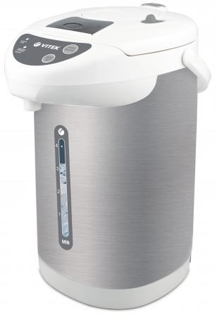 Термопот Vitek VT-1196 W 750 Вт 4 л нержавеющая сталь белый серебристый цена и фото