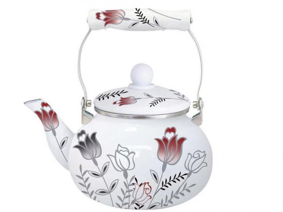 Чайник Winner WR-5102 2 л металл белый рисунок чайник 0 6 л winner чайник 0 6 л