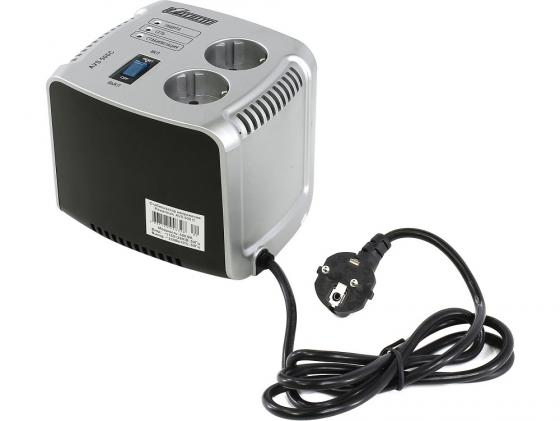 Стабилизатор напряжения Powerman AVS 500C 2 розетки серебристый цены онлайн