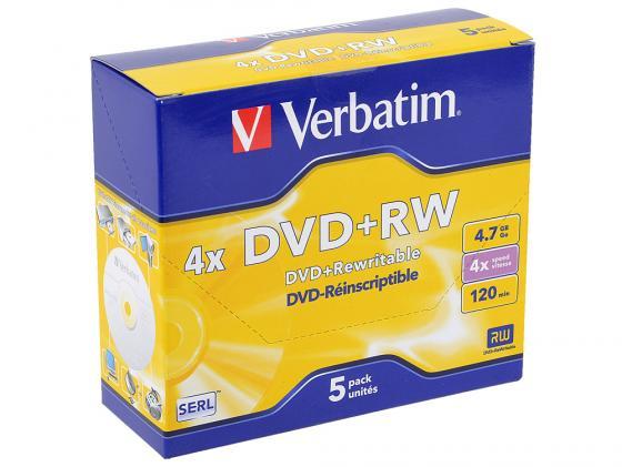 Диски DVD+RW Verbatim 4x 4.7Gb Jewel 1шт 43229/43228 цена