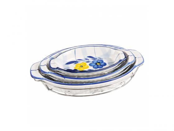 Купить Набор блюд Bekker BK-7307 3 предмета белый с рисунком