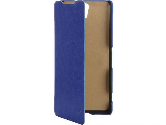 все цены на  Чехол-флип PULSAR SHELLCASE для Sony Xperia C5 Ultra Dual (синий)  онлайн