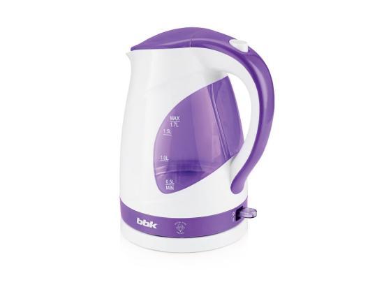 лучшая цена Чайник BBK EK1700P 2200 Вт белый фиолетовый 1.7 л пластик