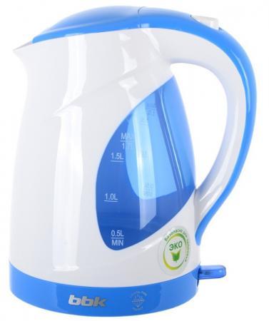чайник bbk ek1705s 2200 вт 1 7 л металл чёрный металлик Чайник BBK EK1700P 2200 Вт 1.7 л пластик белый голубой