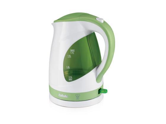 Чайник BBK EK1700P 2200 Вт белый зелёный 1.7 л пластик
