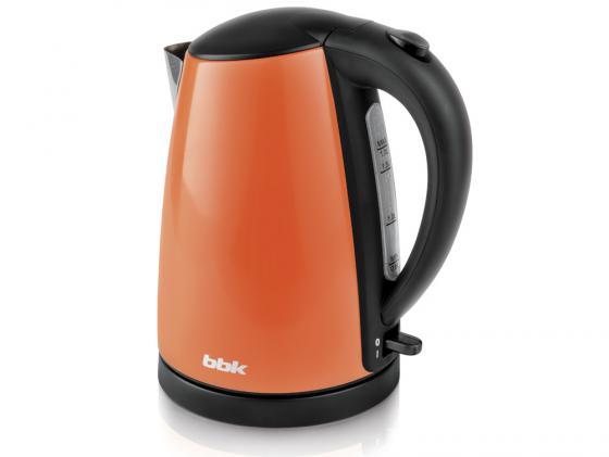 Чайник BBK EK1705S 2200 Вт оранжевый 1.7 л нержавеющая сталь чайник bbk ek1705s белый черный