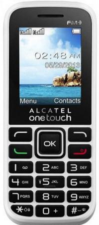 Мобильный телефон Alcatel OneTouch 1016D белый 1.8 32 Мб мобильный телефон fly ff178 белый 1 77 32 мб