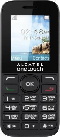 Мобильный телефон Alcatel OneTouch 1016D черный 1.8 32 Мб аксессуар защитная пленка alcatel onetouch idol alpha media gadget premium прозрачная mg986