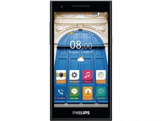 Смартфон Philips S396 черный 5 8 Гб LTE Wi-Fi GPS 3G 4G huawei mediapad m2 8 32gb lte [m2 801l] cold 8 1920x1200 32 гб 8 мп wi fi bluetooth 3g 4g lte android 5 0