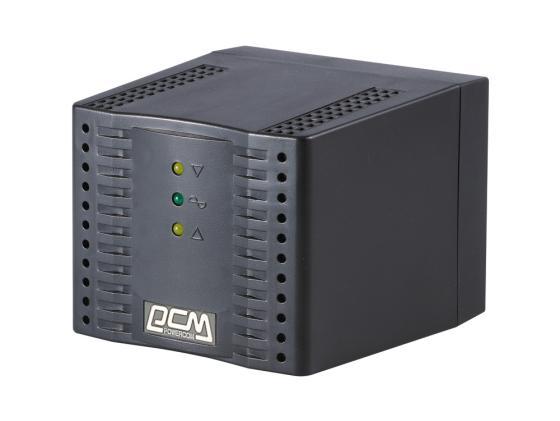 Стабилизатор напряжения Powercom TCA-3000 4 розетки черный