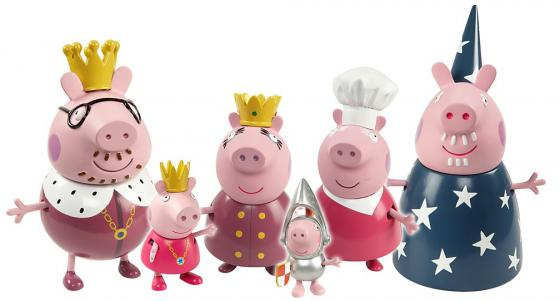 Игровой набор Peppa Pig Королевская семья 6 предметов 28875 peppa pig пазл супер макси 24a контурный магниты подставки семья кроликов