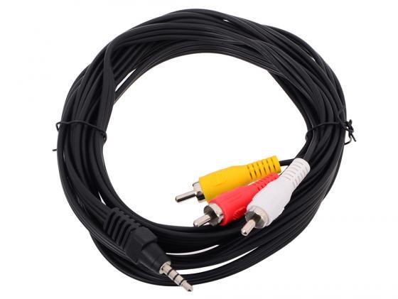 Фото - Кабель соединительный Telecom 3.5Jack (M)-3хRCA(M) TAV4545-3M кабель соединительный telecom 3 5jack m 3хrca m tav4545 2m