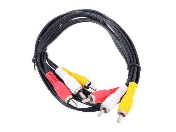 Кабель соединительный 1.5м VCOM Telecom 3xRCA(M)-3xRCA(M) TAV7150-1.5M цена и фото