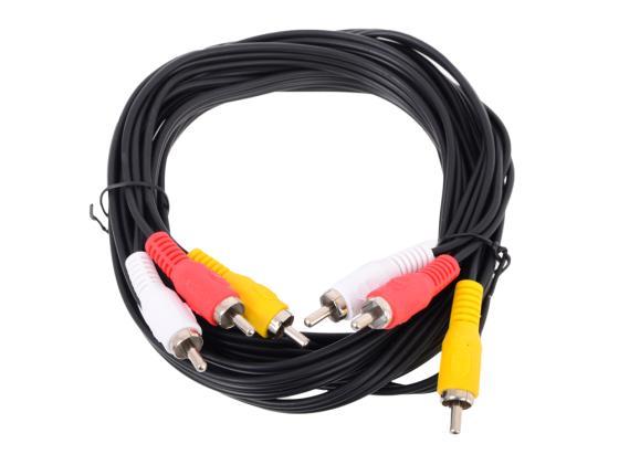 Кабель соединительный 3.0м VCOM Telecom 3xRCA(M)-3xRCA(M) TAV7150-3M цена и фото