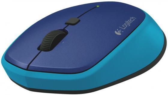 Мышь беспроводная Logitech M335 синий USB 910-004546 мышь беспроводная logitech m335