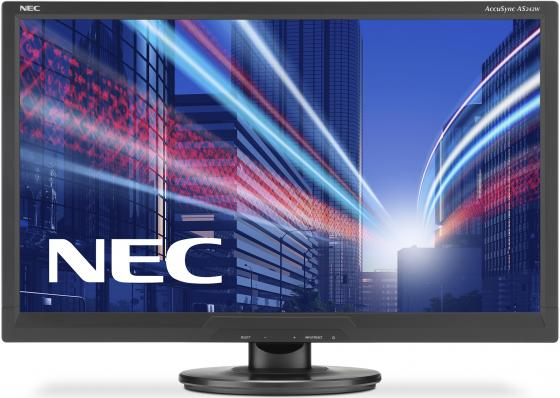 Монитор 24 NEC AS242W черный TFT-TN 1920x1080 250 cd/m^2 5 ms DVI VGA монитор nec 24 accusync as242w as242w