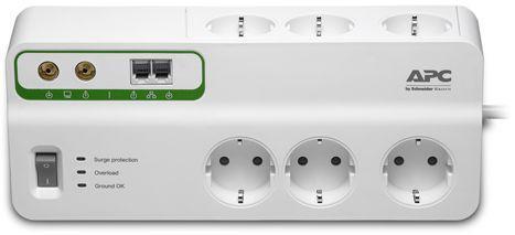Сетевой фильтр APC PMH63VT-RS 6 розеток 3 м белый сетевой фильтр apc pmh63vt rs 6 розеток 2 4 м белый