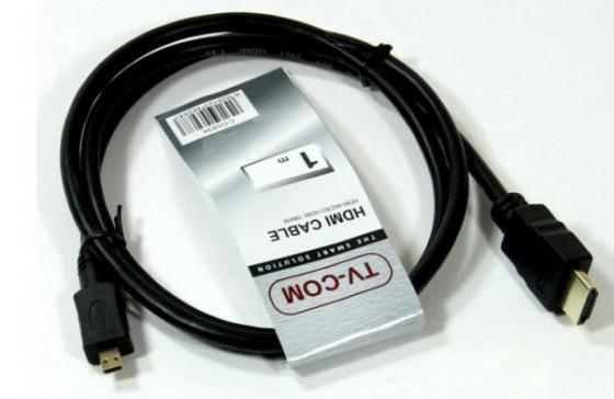 Кабель HDMI-micro HDMI 1.8м VCOM Telecom CG583K-1.8M 6926123462690 кабель hdmi micro hdmi 1 0м vcom telecom tu715 1m