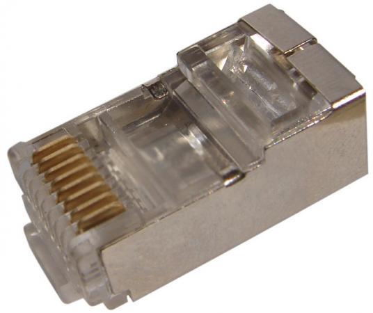 Коннектор Rexant RJ-45 5e категории 8P8C 100шт 05-1023 экранированный