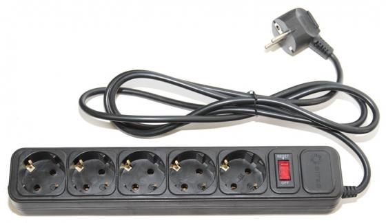 Сетевой фильтр 5bites SP5-B-30 3м 5 розеток черный сетевой фильтр brennenstuhl eco line 3м 8 розеток черный 1159300018