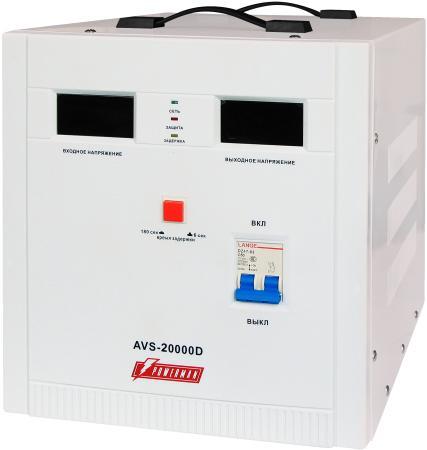 все цены на Стабилизатор напряжения Powerman AVS 20000D — белый онлайн