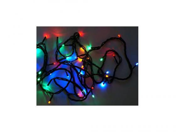 Гирлянда 180 LED, цветное свечение, зеленый провод Новогодняя сказка 971202 гирлянда электрическая новогодняя сказка 100 миниламп рис цветное свечение зеленый провод