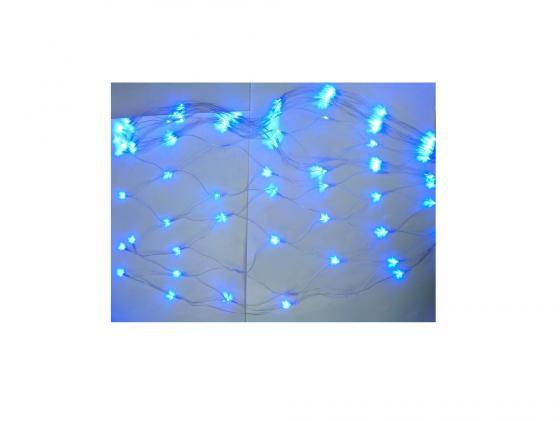 Гирлянда эл. 192 LED, портьера -сетка, синее свечение, прозрачный провод, 7 реж. Новогодняя сказка 971599 гирлянда электрическая новогодняя сказка 100 led портьера уличн белое свечение черн провод 7 реж