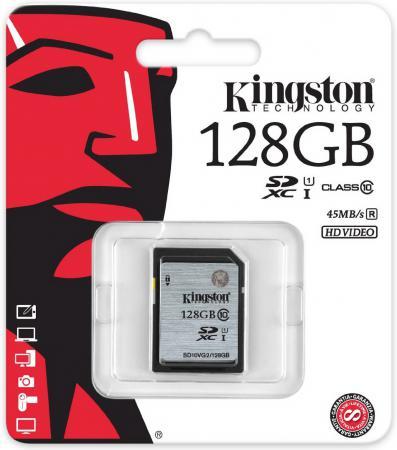 Карта памяти SDXC 128GB Class 10 Kingston SD10VG2/128GB sdxc