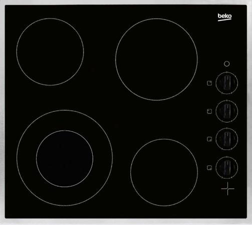Варочная панель электрическая Beko HIC 64101 X черный